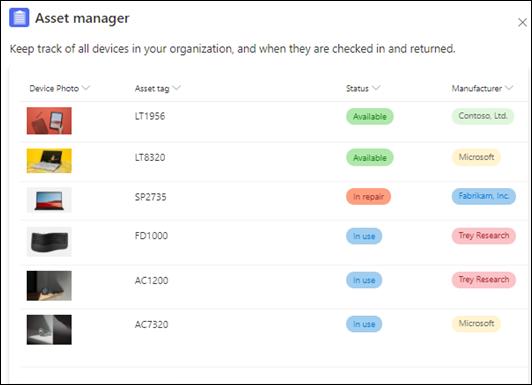 Plantilla de Asset Manager