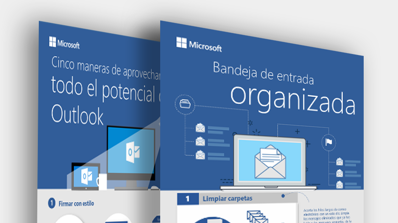 Descargar estas infografías de Outlook