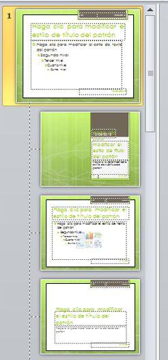 Patrón de diapositivas con 3 diseños diferentes