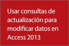 Usar las consultas de actualización para cambiar datos en Access 2013