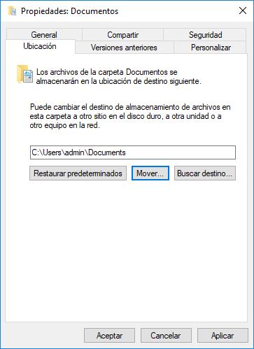 Configurar las propiedades de la carpeta Documentos_C3_201795133936