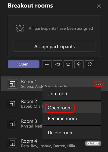 En la imagen se muestra cómo abrir una única sala de descanso.