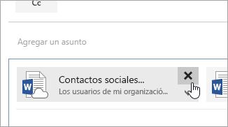 Una captura de pantalla del botón Eliminar datos adjuntos.