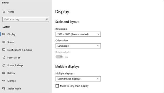 Extender pantalla Windows 10