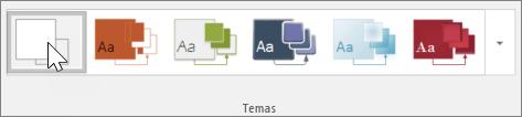 Captura de pantalla de la barra de herramientas Temas
