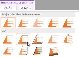 Aplicar un estilo de SmartArt