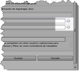 Iconos de etiquetas en el cuadro de diálogo Editar propiedades
