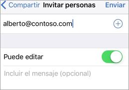 Mostrar la pantalla Invitar personas con permisos