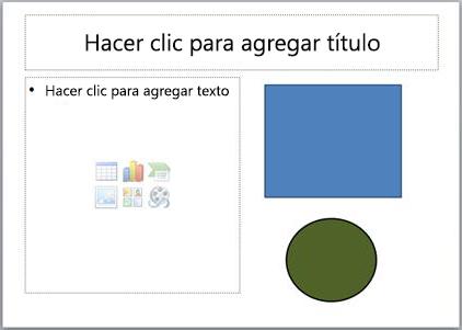 Una diapositiva con dos marcadores y dos objetos independientes