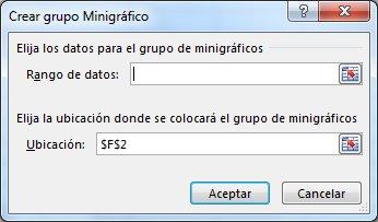 Cuadro de diálogo Crear minigráficos