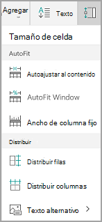 Opciones de Autoajuste de Windows Mobile