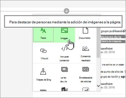 Selector de aplicación web moderna con imagen resaltado