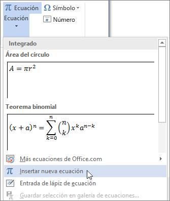 Insertar Símbolos Matemáticos Word