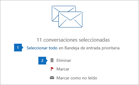 Captura de pantalla de la opción Seleccionar todo