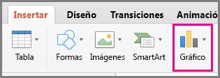 Crear gráfico en Office para Mac