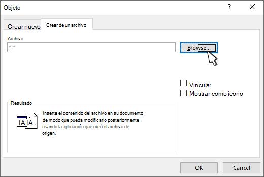Crear desde el panel de archivos