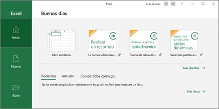 Crear un libro de Excel