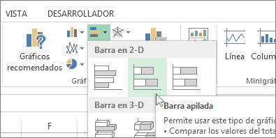 Selección de gráficos en la cinta