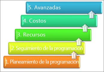 5 áreas principales de un sistema de administración de proyectos