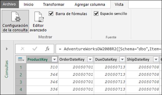 Power Query: fuente monoespaciada para Editor de consultas (versión preliminar)