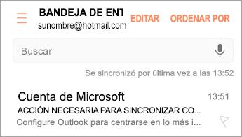 """Abra el correo electrónico que indica """"Acción obligatoria"""""""