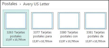 Plantilla de postal para Carta USA de Avery