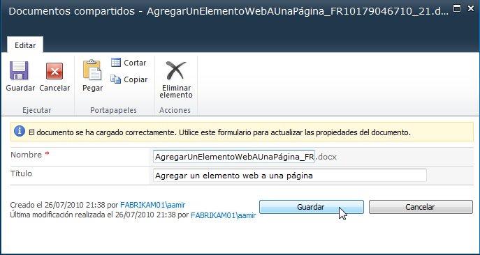 elemento web agregar