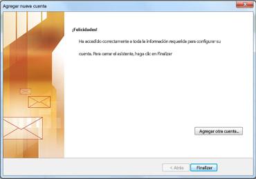 Notificación de configuración de la cuenta