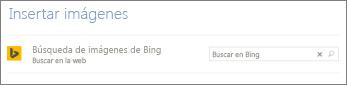 Cuadro Búsqueda de imágenes de Bing