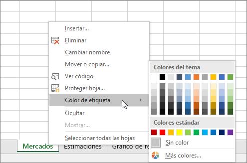 Color de pestaña