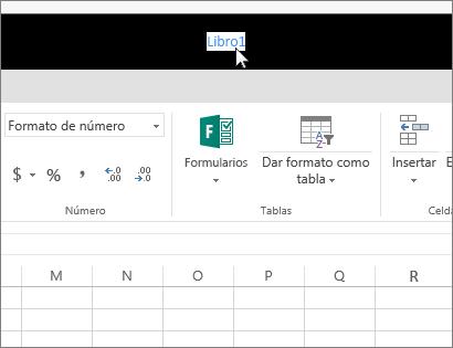 Cursor al hacer clic en un nombre de archivo