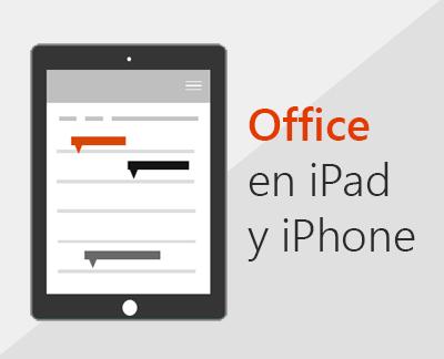 Haga clic para configurar las aplicaciones de Office en iOS