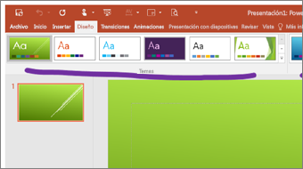 Inicio del aprendizaje de introducción a PowerPoint 2016