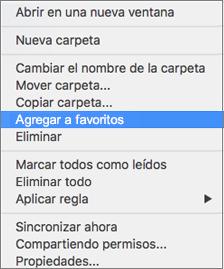 Agregar a la opción de favoritos en el menú contextual
