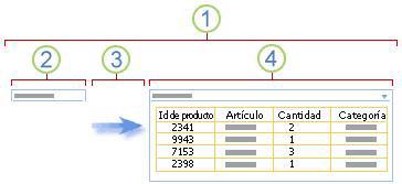Información general sobre cómo conectar un elemento web de filtro