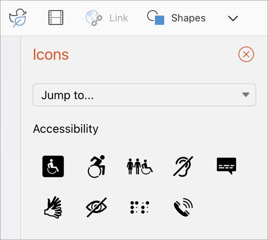 Seleccione el icono.