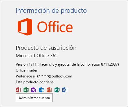 Compilación de Office Insider