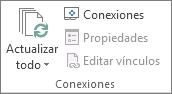 Grupo Conexiones de la pestaña Datos