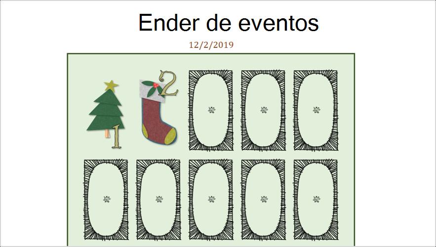 Imagen de un calendario de llegada digital