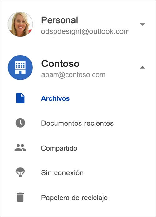 OneDrive para la empresa.