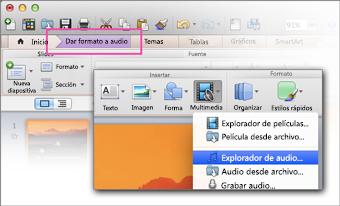 Abrir el explorador de audio