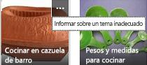 Haga clic en el comando Más (...) en la esquina superior derecha de cualquier elemento para notificarlo como contenido inapropiado.