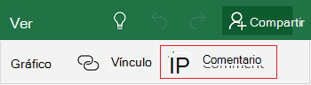 Agregar un comentario en Excel Mobile para Windows 10