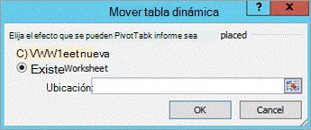 Cuadro de diálogo Mover tabla dinámica