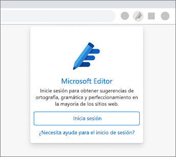 Haga clic en el icono de Editor atenuado e inicie sesión.