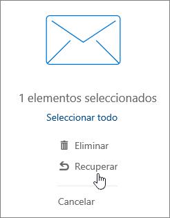 Una captura de pantalla muestra la opción de Recuperar seleccionada en el panel de lectura.