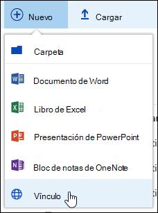Agregar un vínculo a una biblioteca de documentos