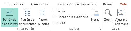 Pueden personalizarse los diseños de diapositivas en la vista Patrón de diapositivas