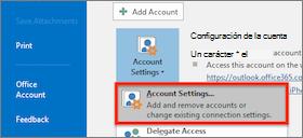 configuración de la cuenta de Windows