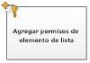 Agregar permisos de elemento de lista